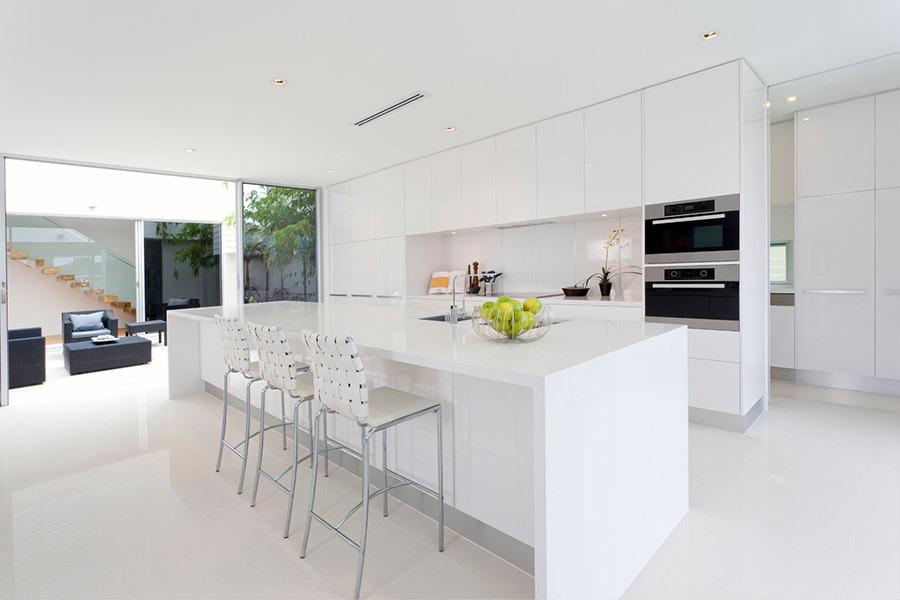 Modern White Kitchen | Kitchen U