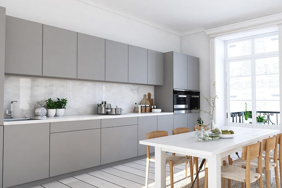 Beautiful Kitchen with Gray and White decoration | Kitchen U