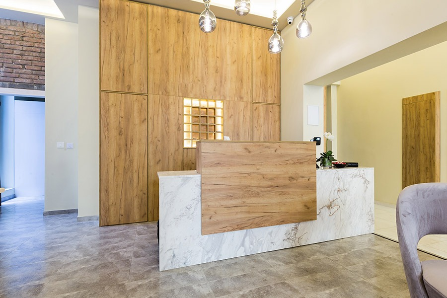 Image of Kitchen Block with Wood Accents | Featured Image for Commercial Cabinet Makers Brisbane